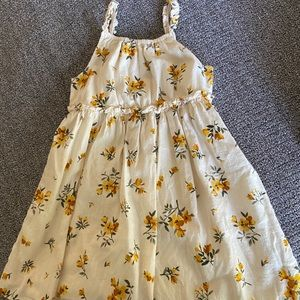 White and yellow floral dress